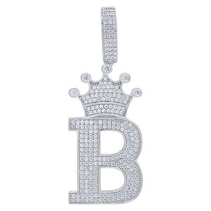 Iced Out Premium Bling 925 Sterling Silver Letter Pendant A, B, C, D....Z - B vyobraziť