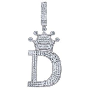 Iced Out Premium Bling 925 Sterling Silver Letter Pendant A, B, C, D....Z - D vyobraziť