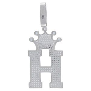 Iced Out Premium Bling 925 Sterling Silver Letter Pendant A, B, C, D....Z - Z vyobraziť