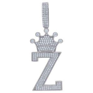 Iced Out Premium Bling 925 Sterling Silver Letter Pendant A, B, C, D....Z - Z vyobraziť