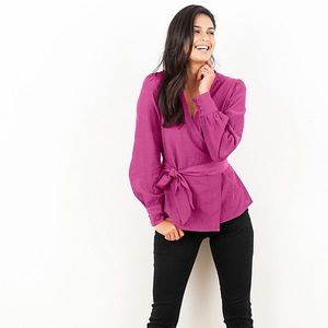 Ružová košeľová blúzka - 50 vyobraziť