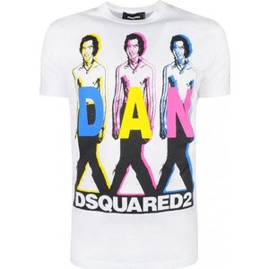 Dsquared2 pánske tričko Farba: Biela, Veľkosť: S vyobraziť