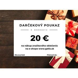 Darčekový elektronický poukaz v hodnote 20€ vyobraziť