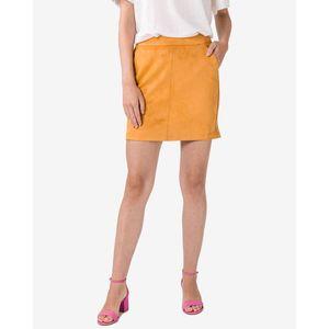 Semišová mini sukňa vyobraziť