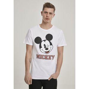 Merchcode Mickey College Tee white - L vyobraziť