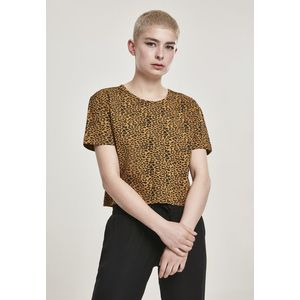 Urban Classics Ladies Short Oversized AOP Tee natural leo - L vyobraziť