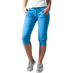 Urban Classics Ladies French Terry Capri turquoise - XS vyobraziť