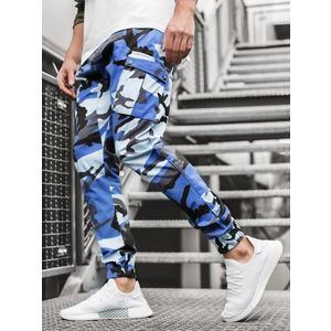 Modro-čierne maskáčové trendy joggery A/0853 vyobraziť