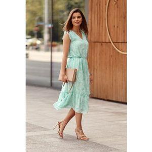 Midi šaty s oválnymi vzormi, zelené vyobraziť