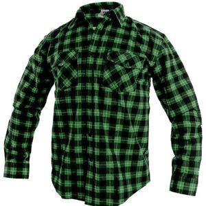 Canis Pracovná flanelová košeľa TOM - Zelená | 39-40 vyobraziť
