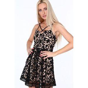 Dámske čipkované šaty, čierne vyobraziť