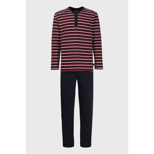 Červeno-modré pruhované pyžamo vyobraziť