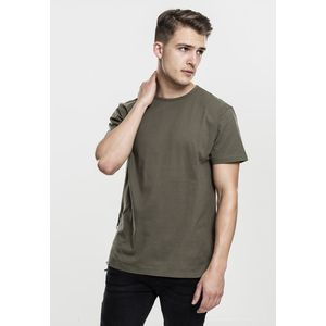 Pánske tričko Urban Classics Lace Up Long Tee olive - S vyobraziť