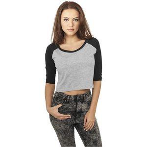 Dámske tričko s krátkym rukávom Urban Classics Ladies Cropped Tee čierne Veľkosť: XL, Pohlavie: dámske vyobraziť