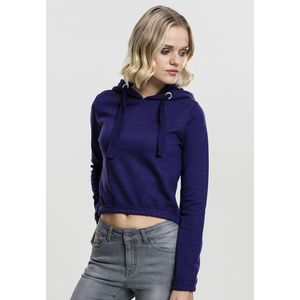 Mikina Urban Classics Ladies Interlock Short Hoody Regal Purple S vyobraziť