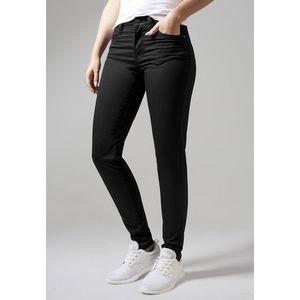 Dámske nohavice URBAN CLASSICS LADIES SKINNY PANTS čierne Veľkosť: M, Pohlavie: dámske vyobraziť