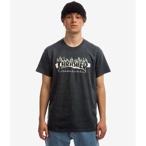 Pánske tričko THRASHER RIPPED TEE DARK HEATHER Farba: Šedá, Veľkosť: L, Pohlavie: pánske vyobraziť
