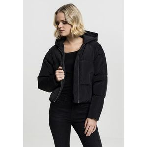 Dámska čierna bunda Urban Classics Ladies Hooded Oversized Puffer Jacket Veľkosť: XL, Pohlavie: dámske vyobraziť
