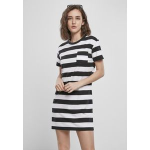 Urban Classics Ladies Stripe Boxy Tee Dress black/white - S vyobraziť