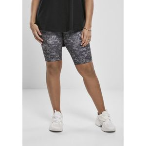 Urban Classics Ladies High Waist Camo Tech Cycle Shorts dark digital camo - S vyobraziť