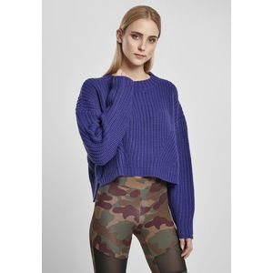 Urban Classics Ladies Wide Oversize Sweater bluepurple - S vyobraziť