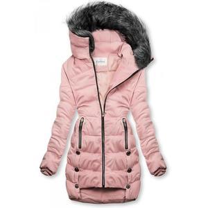 Ružová prešívaná bunda na zimu vyobraziť