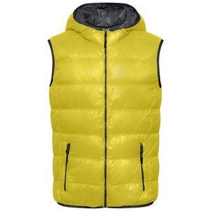 James & Nicholson Ľahká pánska páperová vesta JN1062 - Žlutá / tmavě šedá   XL vyobraziť