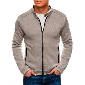 Ombre Clothing Men's zip-up sweatshirt C453 vyobraziť