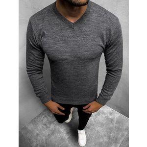 Pohodlný pánsky sveter grafitový O/KV04Z vyobraziť