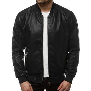 Čierna koženková bunda JB/JP1147Z vyobraziť