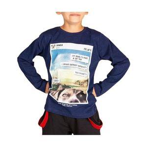 Detské tmavomodré tričko vyobraziť