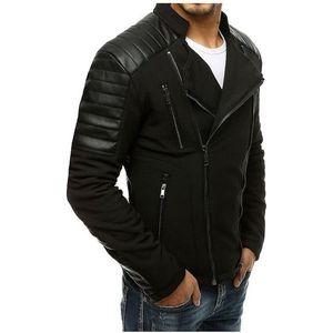čierna pánska koženková bunda vyobraziť