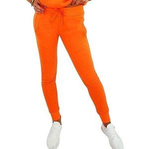 Oranžová dámska tepláková súprava vyobraziť
