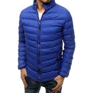 Pánska stredne modrá ĺahká prešívaná bunda vyobraziť