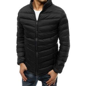 Pánska čierna ĺahká prešívaná bunda vyobraziť