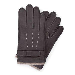 Hnedé zateplené rukavice pre pánov. vyobraziť