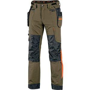 Canis Pracovné nohavice CXS NAOS - Zelená / zelená / oranžová   46 vyobraziť