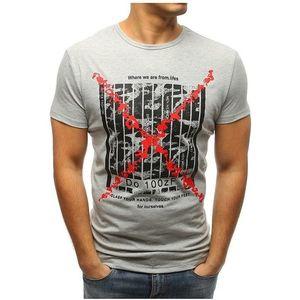 Pánske tričko s potlačou (tričko) sivé vyobraziť