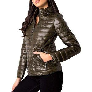 Khaki dámska prešívaná bunda vyobraziť