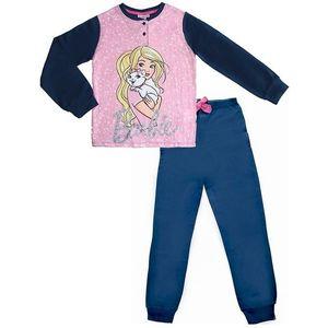 Dievčenské modré pyžamo s barbie vyobraziť