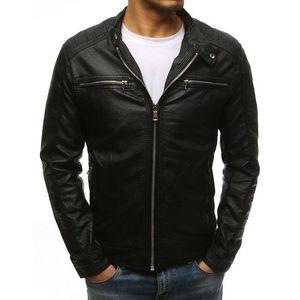 Čierna koženková bunda (tx1532) vyobraziť