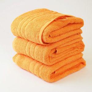 Dobrý Textil Osuška Economy 70x140 - Oranžová vyobraziť