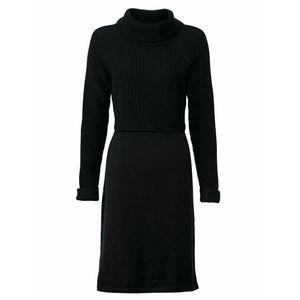 heine Pletené šaty čierna vyobraziť