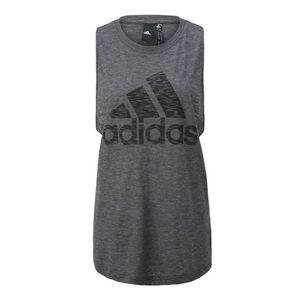 ADIDAS PERFORMANCE Športový top čierna / sivá melírovaná vyobraziť