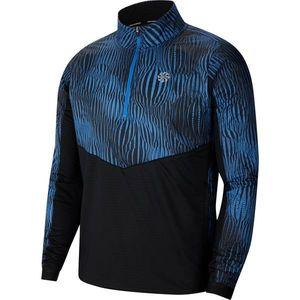 NIKE Funkčné tričko modrá / čierna vyobraziť