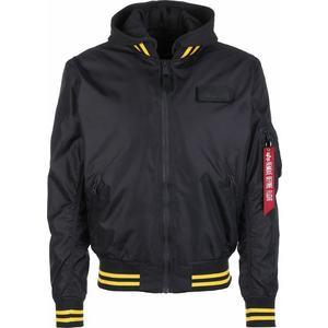 ALPHA INDUSTRIES Prechodná bunda čierna / žltá / červená / biela vyobraziť