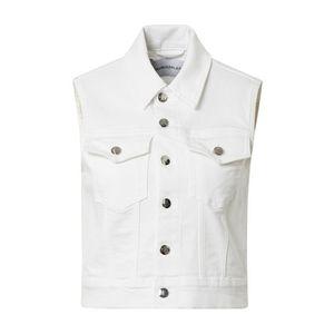 Calvin Klein Jeans Vesta biela vyobraziť