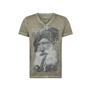 STOCKERPOINT Krojové tričko 'Coolman' sivobéžová / čierna / červená / biela vyobraziť