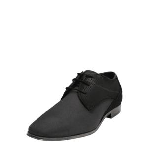 bugatti Šnurovacie topánky tmavosivá / čierna vyobraziť