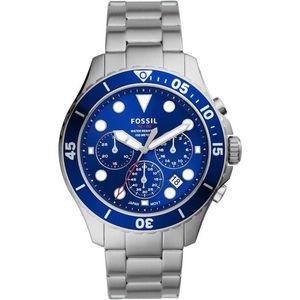 FOSSIL Analógové hodinky strieborná / modrá vyobraziť
